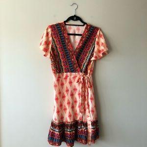 Unbranded printed wrap dress